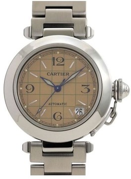 Cartier Pasha C W31024M7 Stainless Steel 35mm Mens Watch