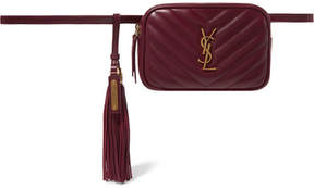 Saint Laurent Lou Quilted Leather Belt Bag - Burgundy