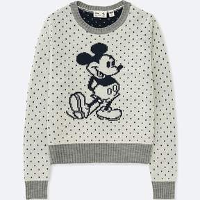Uniqlo Kid's Mickey Stands Long-sleeve Sweater