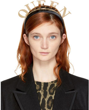 Dolce & Gabbana Gold and Black Queen Headband