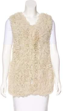 Closed Shearling Crew Neck Vest