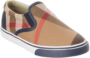 Burberry Kids' House Check Cotton Slip-On Trainers