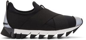 Dolce & Gabbana Black Criss-Cross Sneakers