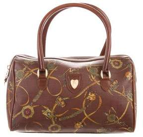 Mark Cross Leather-Trimmed Printed Bag