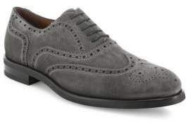 Saks Fifth Avenue COLLECTION Suede Brouge Wing Tip Oxfords