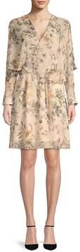 ABS by Allen Schwartz Women's Floral Popover Dress