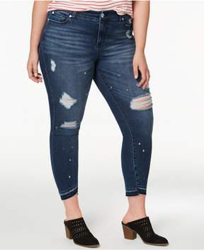 Celebrity Pink Plus Size Destructed Skinny Jeans