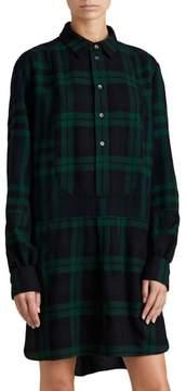 Burberry Kylie Check Wool Shirtdress