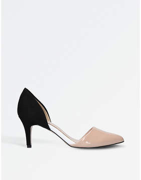 Miss KG Celina patent and faux-suede courts