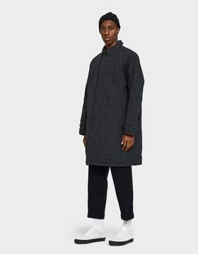 Beams Reversible Overcoat in Charcoal