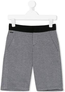 Lanvin Enfant small check shorts