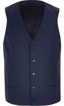 River Island Mens Blue wool-blend smart vest