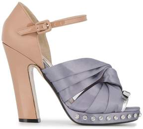 No.21 knotted bow sandals