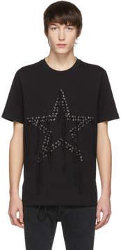 Diesel Black T-Rio Eyelets Star T-Shirt