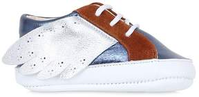 Pépé Laminated Nappa Leather & Suede Sneakers