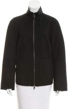Strenesse Wool Mock Neck Jacket