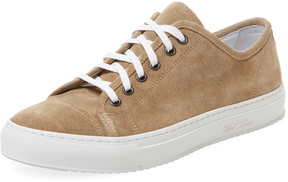 Del Toro Men's Suede Sardegna Low Top Sneaker