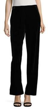 Alex Evenings Velvet Bell-Bottom Trousers