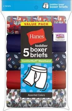 Hanes Toddler Boys ComfortSoft Waistband Boxer Briefs 5 Pack
