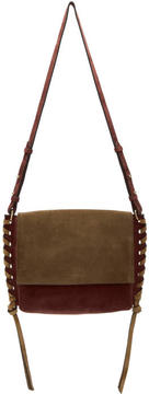 Isabel Marant Burgundy and Brown Suede Asli Bag