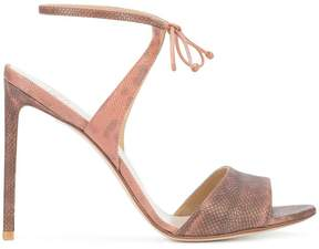 Francesco Russo tie front sandals