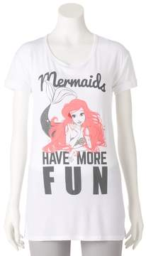 Disney Disney's The Little Mermaid Ariel Juniors' Mermaids Have More Fun Graphic Tee