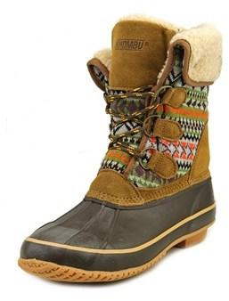 Khombu Maya Round Toe Leather Winter Boot.