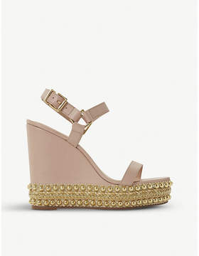 Dune Kibble studded leather wedge sandals