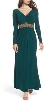 Eliza J Women's Embellished Jersey Gown
