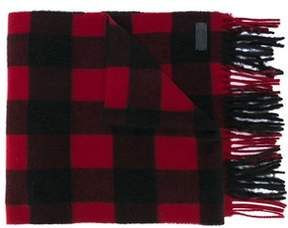 DSQUARED2 Men's Black/red Wool Scarf.