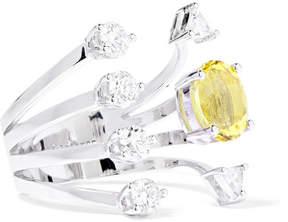 Delfina Delettrez 18-karat White Gold, Beryllium And Diamond Ring