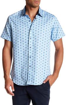 Robert Graham Bigelow Road Short Sleeve Print Woven Classic Fit Shirt