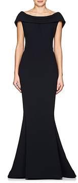 Zac Posen Women's Crepe Off-The-Shoulder Gown