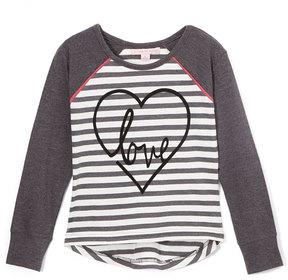 Celebrity Pink Gray Yarn Dye Stripe Tunic - Girls