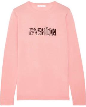 Bella Freud Fashion Intarsia Wool Sweater - Baby pink