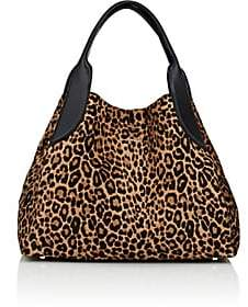 Lanvin Women's Trapeze Calf Hair Small Tote Bag - Leopard