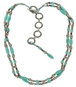 Ariat A1517236-XL Womens Beaded Turquoise Chain Belt Turquoise, Silver - Extra Large