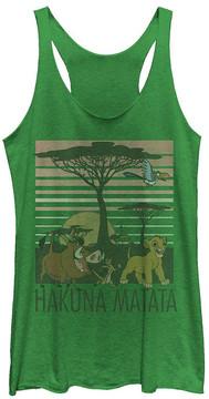 Fifth Sun The Lion King Green 'Hakuna Matata' Racerback Tank - Juniors