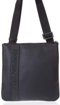 Emporio Armani Black Eco Leather Shoulder Bag
