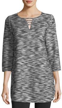 Joan Vass Tweed Tunic Top