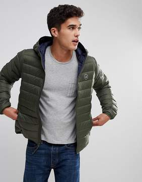 Hollister Lightweight Down Jacket Hooded in Olive