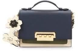 Zac Posen Earthette Colorblock Box Leather Shoulder Bag