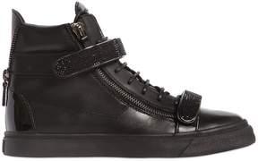 Giuseppe Zanotti Design Bangle Swarovski Nappa Leather Sneakers