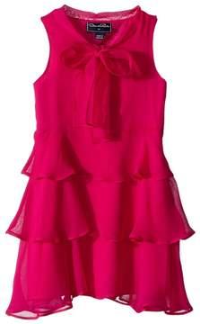 Oscar de la Renta Childrenswear Chiffon Bow Tiered Dress Girl's Dress