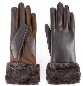 Isotoner Women's Faux Fur Cuff Tech Gloves
