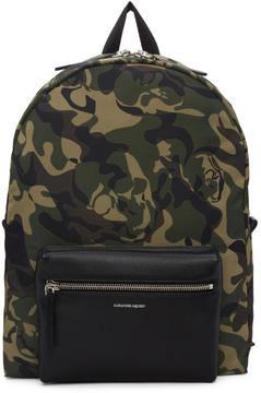 Alexander McQueen Green Camouflage Backpack