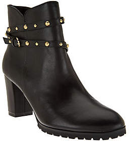 C. Wonder As Is Leather Ankle Boots w/ Stud Detail - Ava