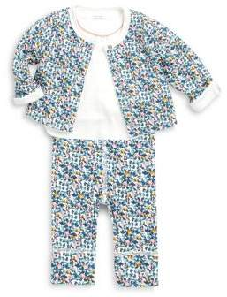Petit Bateau Baby's Laque Three Piece-Tee, Cardigan & Pants Set