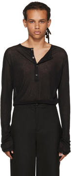 Ann Demeulemeester Black Long Sleeve Henley
