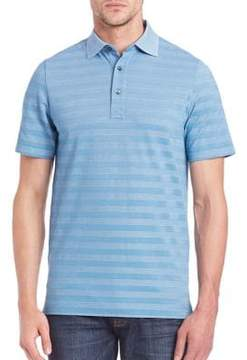 Saks Fifth Avenue COLLECTION Striped Cotton Blend Polo